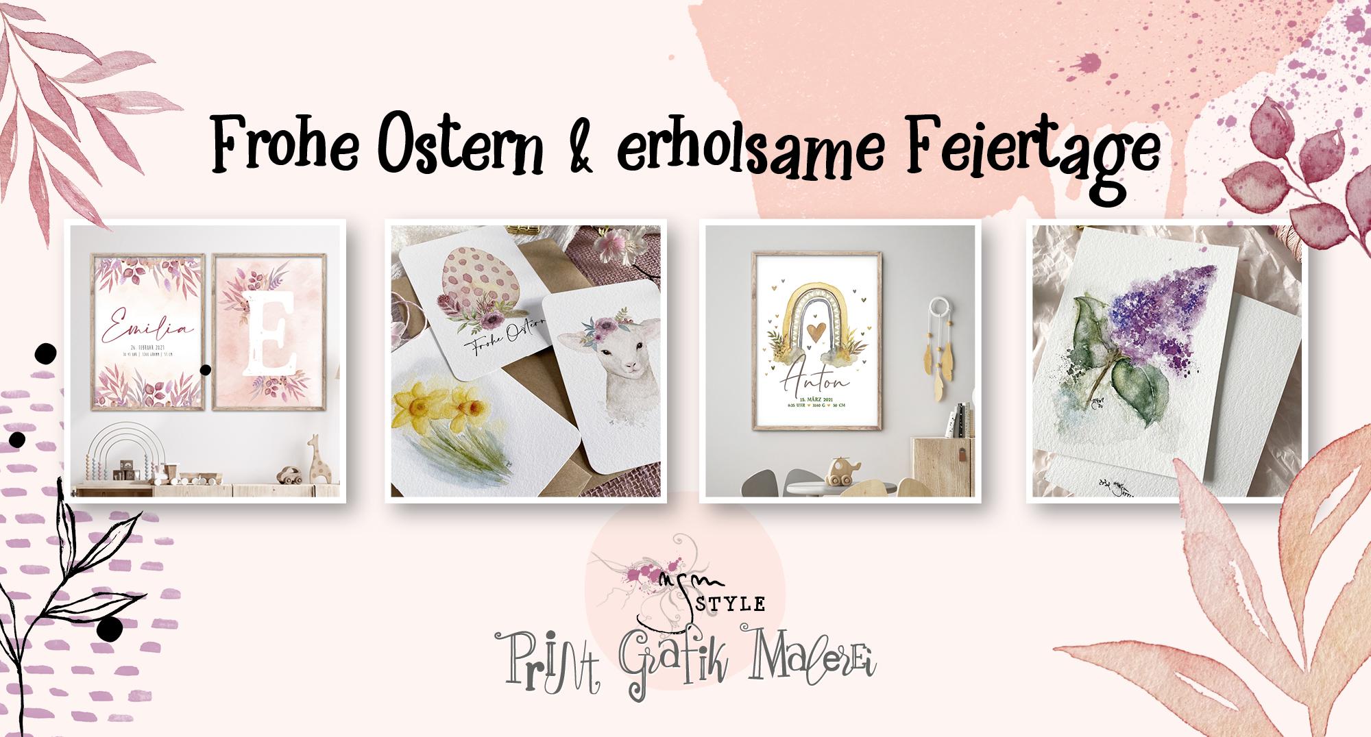 Frohe Ostern, Blog, ngmstyle Neuigkeiten aus dem Shop, Freebie, XL-Poster, A2, Etsy, Shop,
